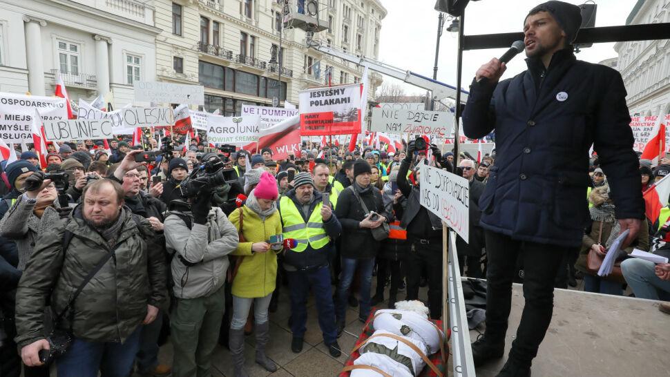 Protest rolników. Prezydenta nie zastali, ale usłyszeli obietnicę