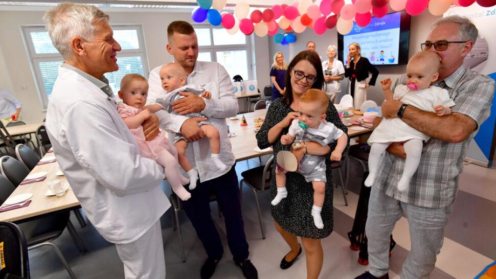 Czworaczki ze Szczecina świętowały swoje pierwsze urodziny