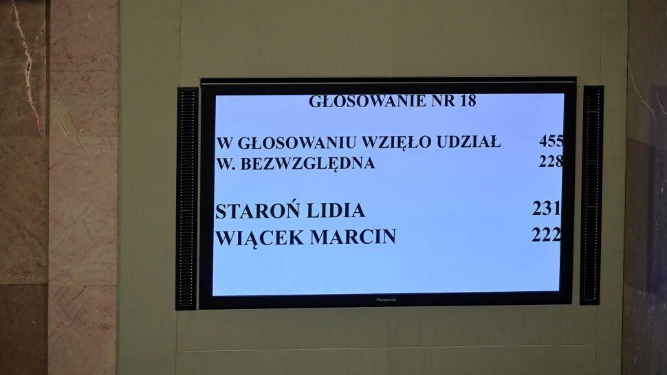 Lidia Staroń wybrana przez Sejm na stanowisko RPO. Teraz czas na Senat