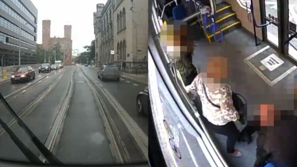"""Awaryjne hamowanie tramwaju jest groźne dla pasażerów. """"Tych zdarzeń jest zdecydowanie więcej"""""""