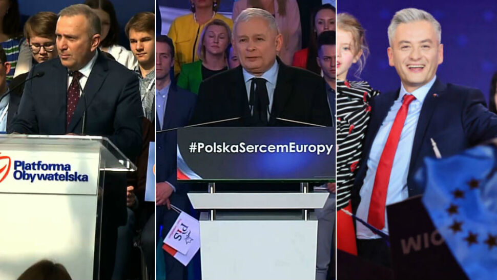 Kaczyński, Schetyna i Biedroń w ofensywie. Politycy zainaugurowali kampanię do europarlamentu