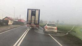 Agresywna jazda ciężarówki