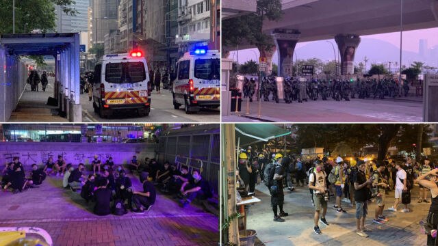 """""""Nie spodziewali się, że policja ich zaatakuje"""". Reporter 24 w Hongkongu"""