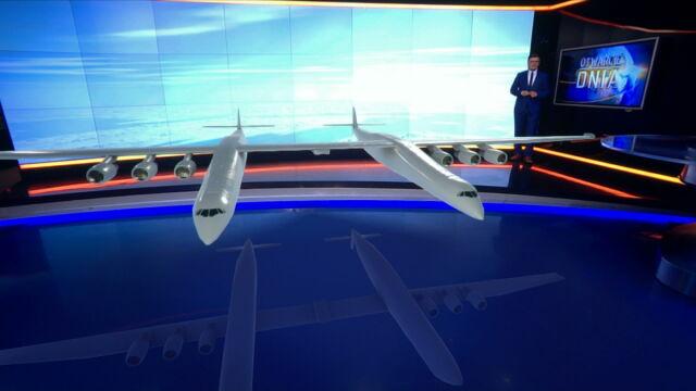Największy samolot świata wylądował w studiu TVN24 BiS