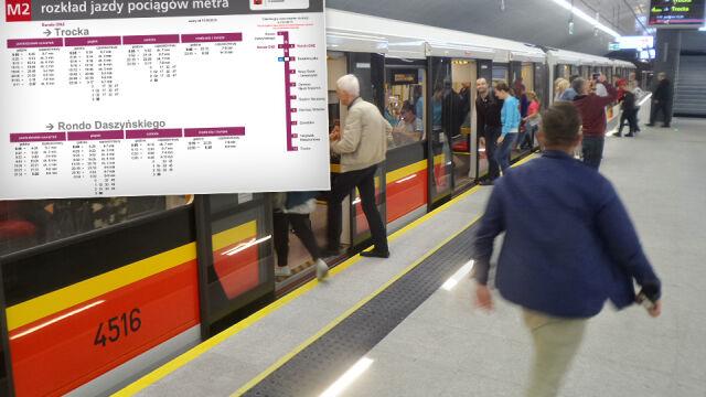 W 17 minut z jednego końca na drugi.  Nowy rozkład jazdy pociągów II linii metra