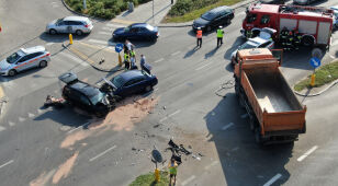 Wypadek na Jagiellońskiej.