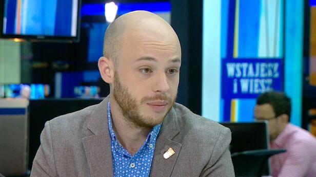 Jan Śpiewak w studiu TVN24 TVN24