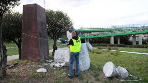 Pomnik Berlinga w czterech częściach, policja zatrzymała jedną osobę