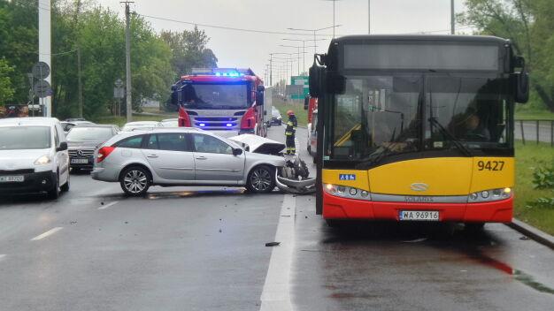 Kolizja na wylotówce w stronę Gdańska