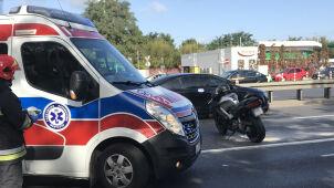 Wypadek w Jerozolimskich. Jedna osoba w szpitalu