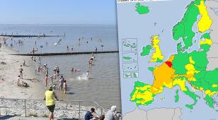 Fala gorąca rozlała się po Europie. Pogodowe ostrzeżenia