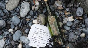 List w butelce z 2015 roku na australijskiej plaży. Autorem jest Polak