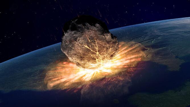 Nieznane skutki uderzenia asteroidy. <br />Temperatura spadła o prawie 27 stopni