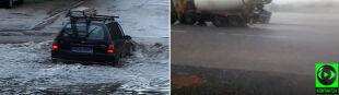 Podtopiony szpital, zalane piwnice. Woda płynęła całą szerokością ulic