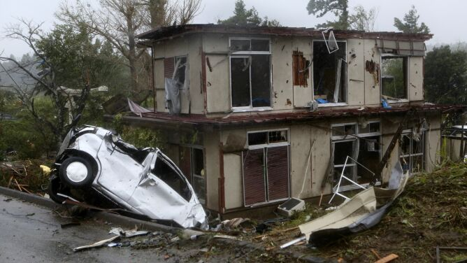 Tajfun Hagibis sieje zniszczenie w Japonii. Towarzyszyła mu trąba powietrzna