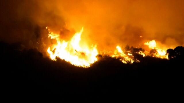 Hiszpania płonie. Żywioł trawi Malagę