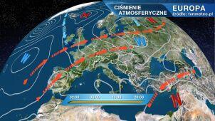 Wyż Corina kształtuje pogodę w Polsce