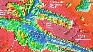Mars zbudowany jak młoda Ziemia. Naukowiec odkrył płyty tektoniczne