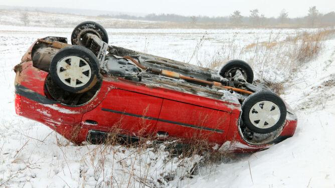 Zła pogoda zmniejszyła liczbę wypadków
