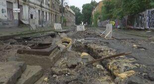 Odessa po intensywnych opadach deszczu