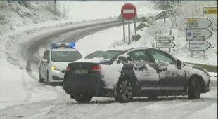 Opady śniegu w Madrycie