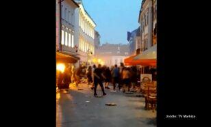 """Polscy chuligani zdemolowali Bratysławę. """"To było jak tsunami"""""""