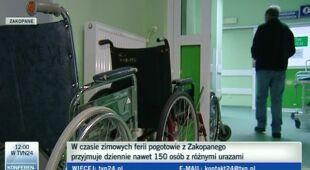 Zakopiańskie szpitale czekają na połamanych narciarzy (TVN24)